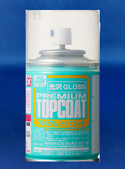 Mr Hobby Premium Top Coat Aerosol Spray Can (Gloss)