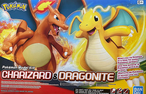 Pokemon Plamo Model Kit: Charizard & Dragonite