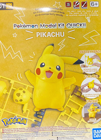 Pokemon Model Kit Quick!! 01 Pikachu