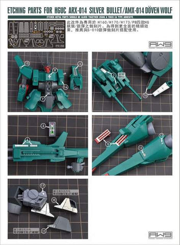 Madworks S11 Etching Parts for HG ARX-014 / AMX-014