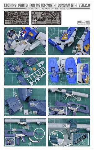 Madworks S12 Etching Parts for MG RX-78NT-1 Gundam NT-1 ver 2.0