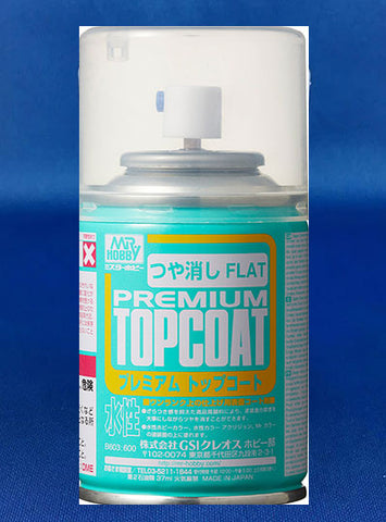 Mr Hobby Premium Top Coat Aerosol Spray Can (Flat)