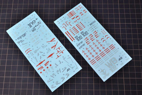Madworks WSD001 Waterslide Decal for PG Unleashed RX78-2