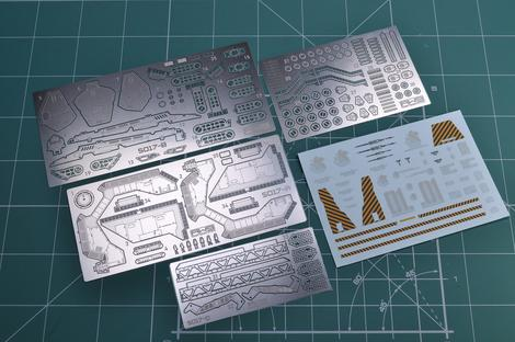 Madworks S17 RG EVA Platform Photoetched Parts