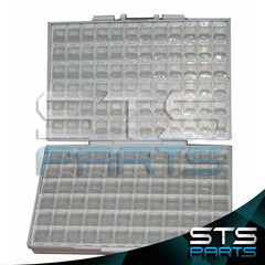 BOX-ALL Empty SMD enclosure w/144 compartments each w/lid