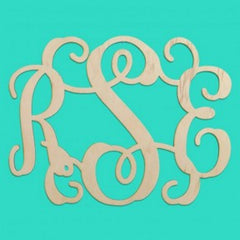 "Wooden Monogram - Interlocking (14"")"