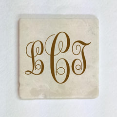 "Coaster - 4"" x 4"" Tumbled Stone Tile"