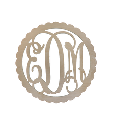 "Wooden Monogram - Scallop (22"")"