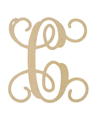 "Wooden Monogram - Single Initial (12"")"