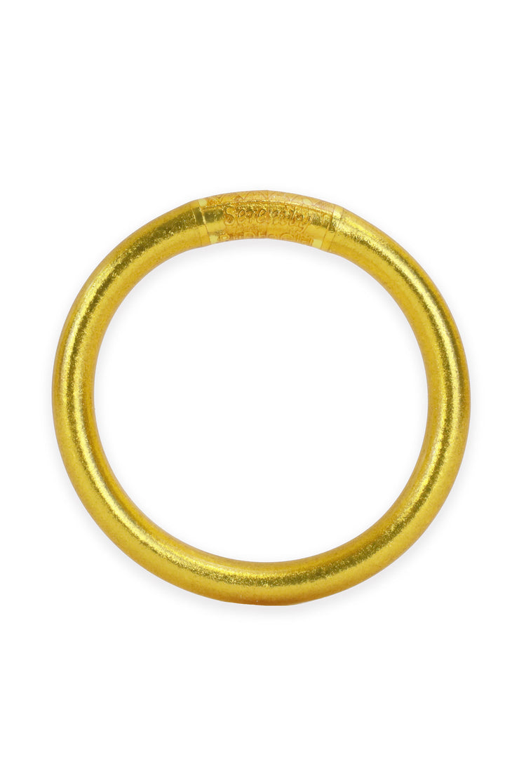 BUDHAGIRL - TZUBBIE All Weather Bangle in Gold, 1 9mm thick gold budhagirl bangle
