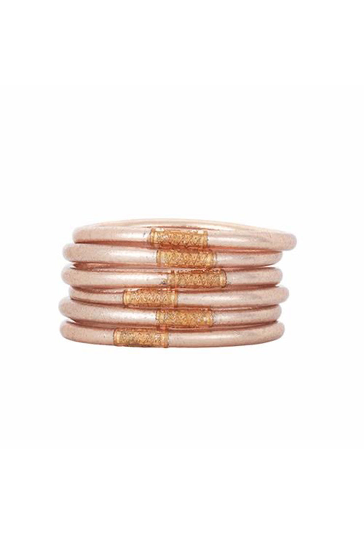 Set of 6 Budhagirl All Weather Bangles in Champagne