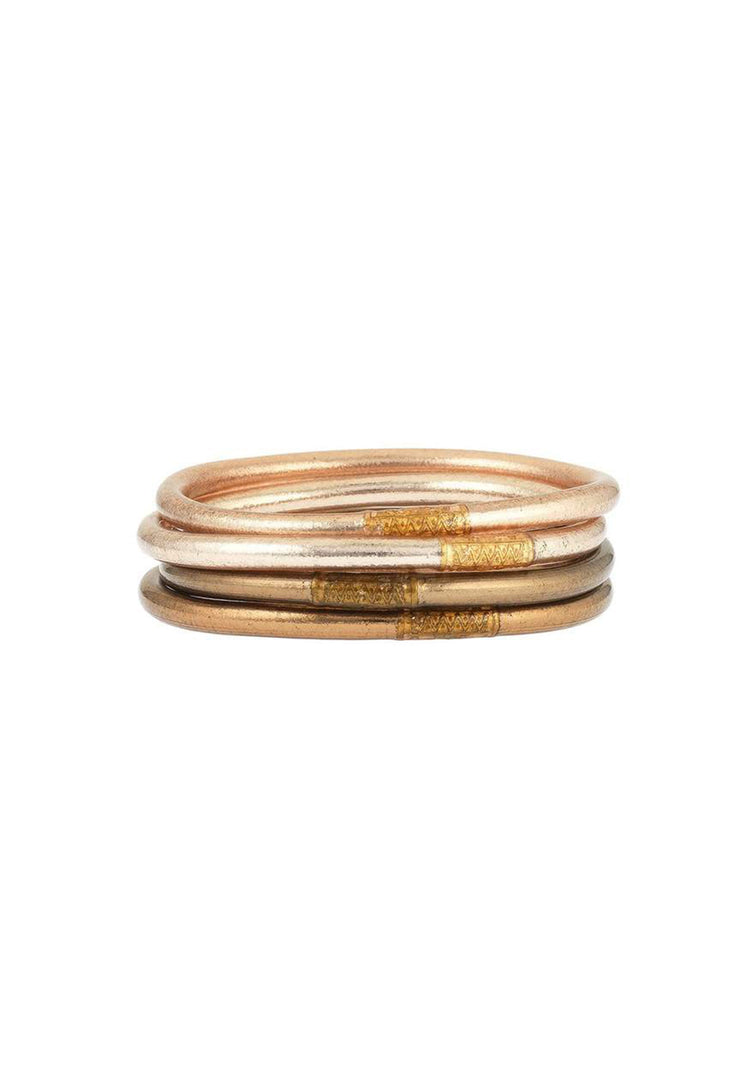 Set of 4 Budhagirl All Weather Bangles in Fawn