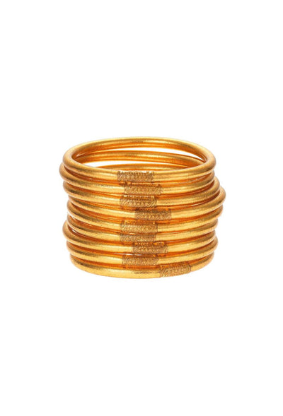 Gold Budhagirl All Weather Bangles in a Set of 9