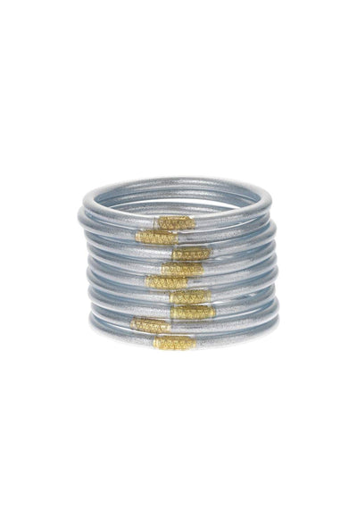 Silver Budhagirl Bangles in a Set of 9
