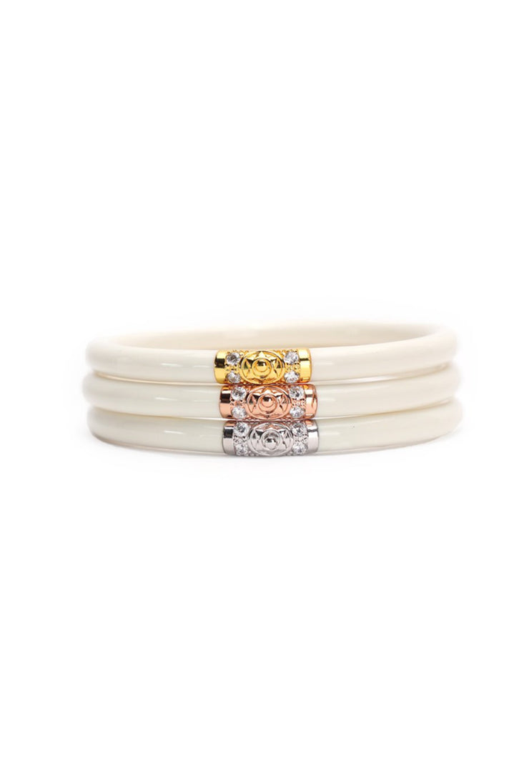 BUDHAGIRL Three Kings All Weather Bangles in Ivory