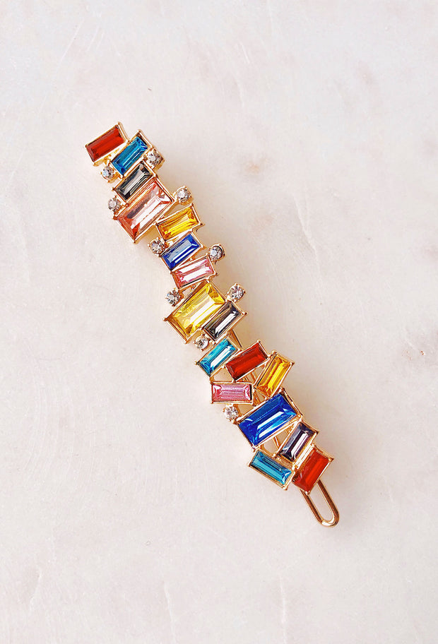 Damara Rainbow Hair Barrette