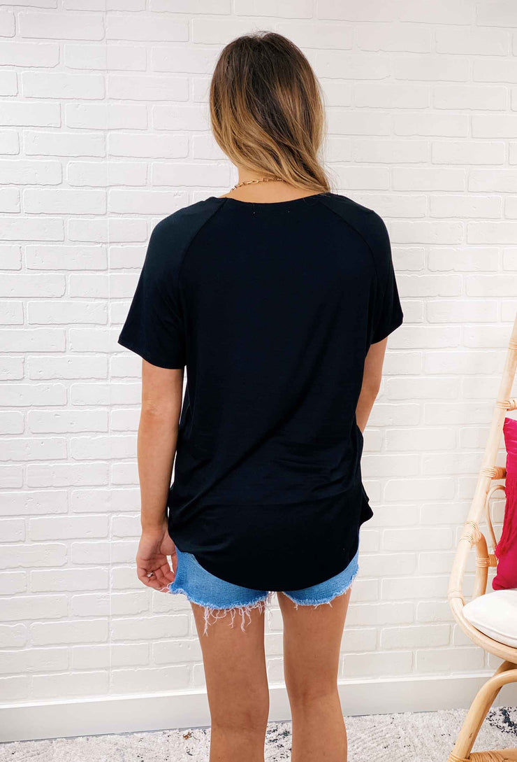 Everyday Basic V-Neck Tee, basic cotton v neck t shirt