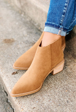 Miracle Mile Francis Bootie in Camel