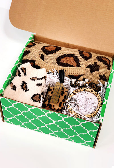 Leopard Lover Groovy's Gift Box, custom hand picked leopard gift box