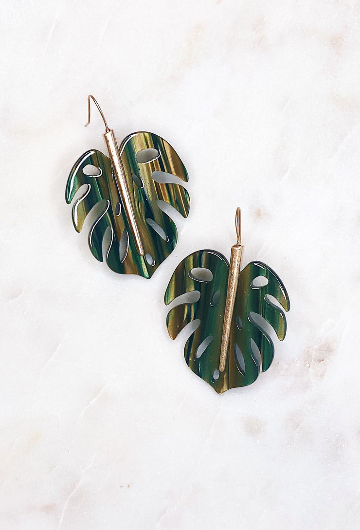Palm Beach Lucite Earrings