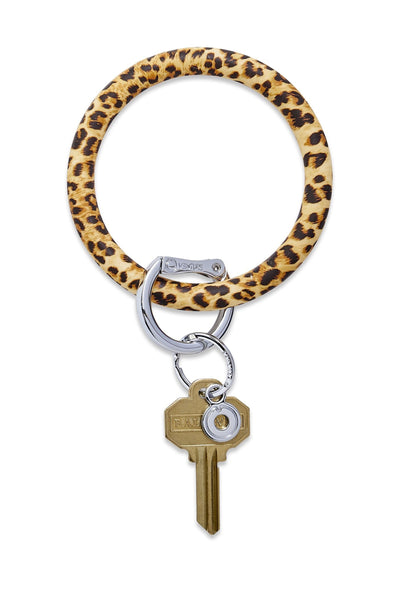 O-Venture Silicone Key Ring in Cheetah, leopard print venture key ring