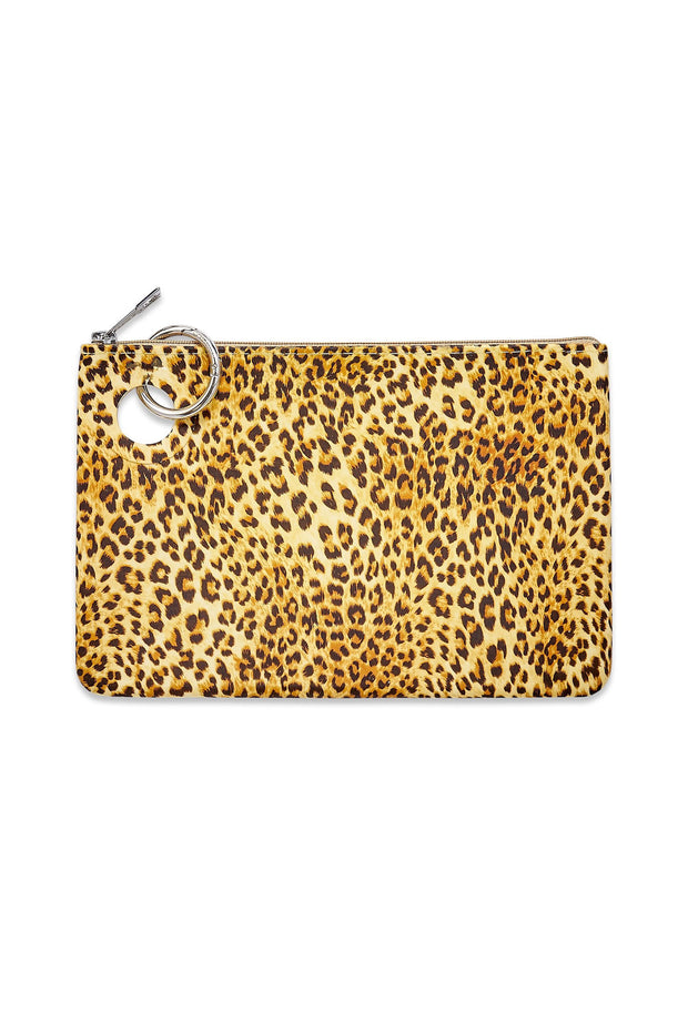 O-Venture Large Silicone Pouch, cheetah print silicone pouch with ring