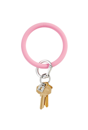 O-Venture Silicone Key Ring in Cotton Candy Pink