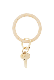 Gold Confetti O-Venture Silicone Key Ring, Gold glitter keyring