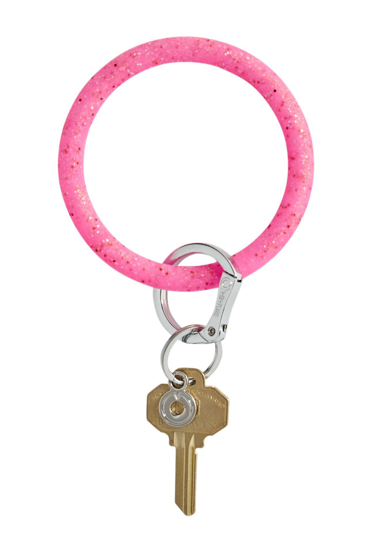 O-Venture Silicone Key Ring in Tickled Pink Confetti