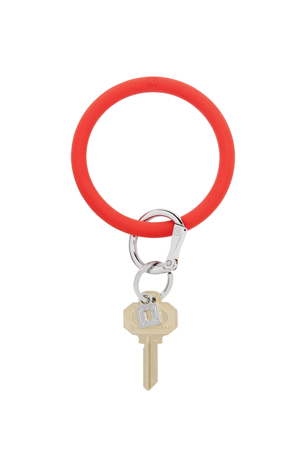Oventure Silicone Key Ring, Red Big O Key Chain, Silicone Cherry on Top