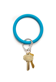 O-venture Key Ring in Peacock, Blue Silicone Key Ring