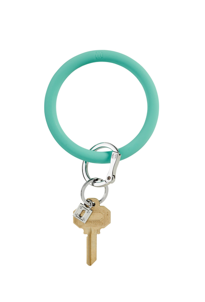 O-venture Silicone Keyring in the Pool Blue, In the Pool Blue