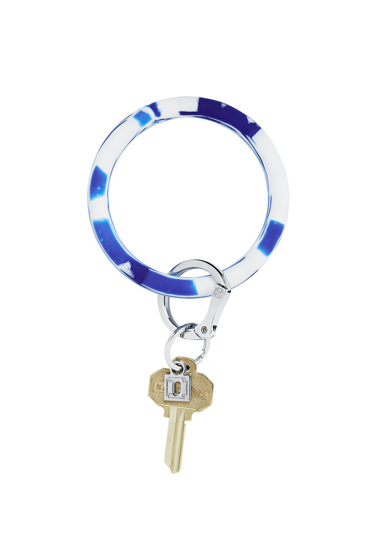 blue marble key ring, silicone key ring, hands free key ring, oventure key ring