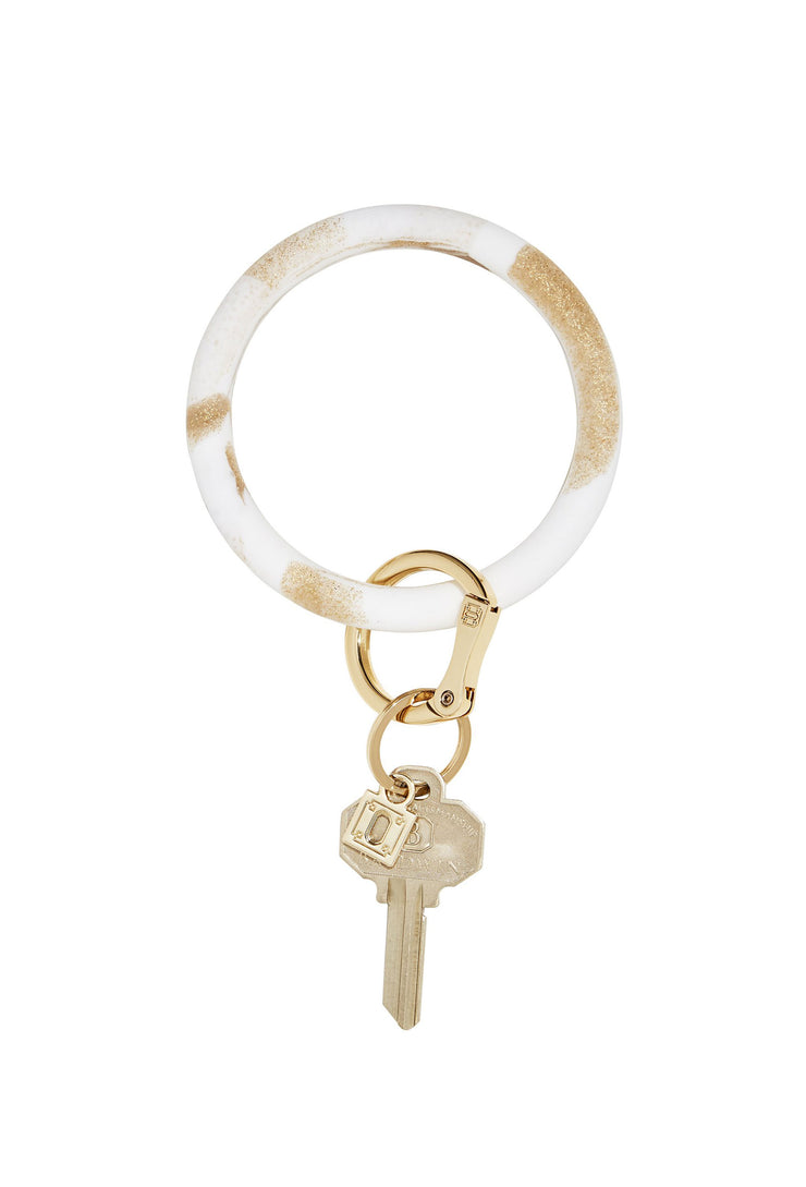 gold marble key ring, silicone key ring, hands free key ring, oventure key ring