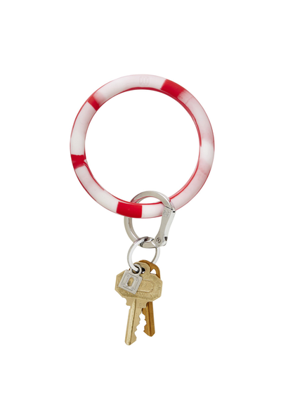 red and white marble key ring, silicone key ring, oventure silicone key ring in cherry on top marble