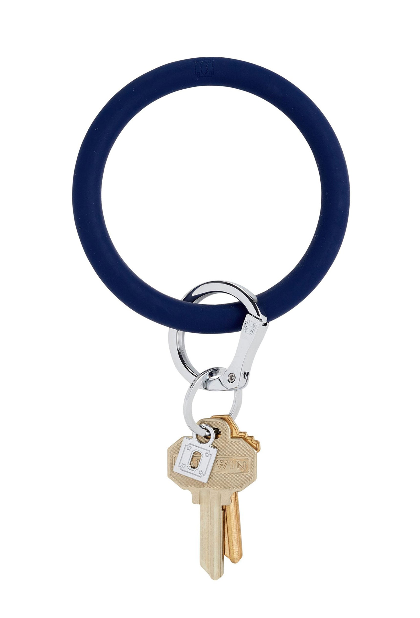 oventure silicone keyring in midnight navy, navy blue keychain