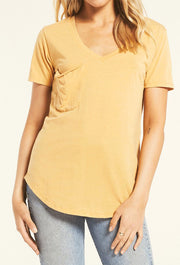 Z SUPPLY Pocket Tee in Marigold, the popular pocket tee in a new fall color a mustard sun color