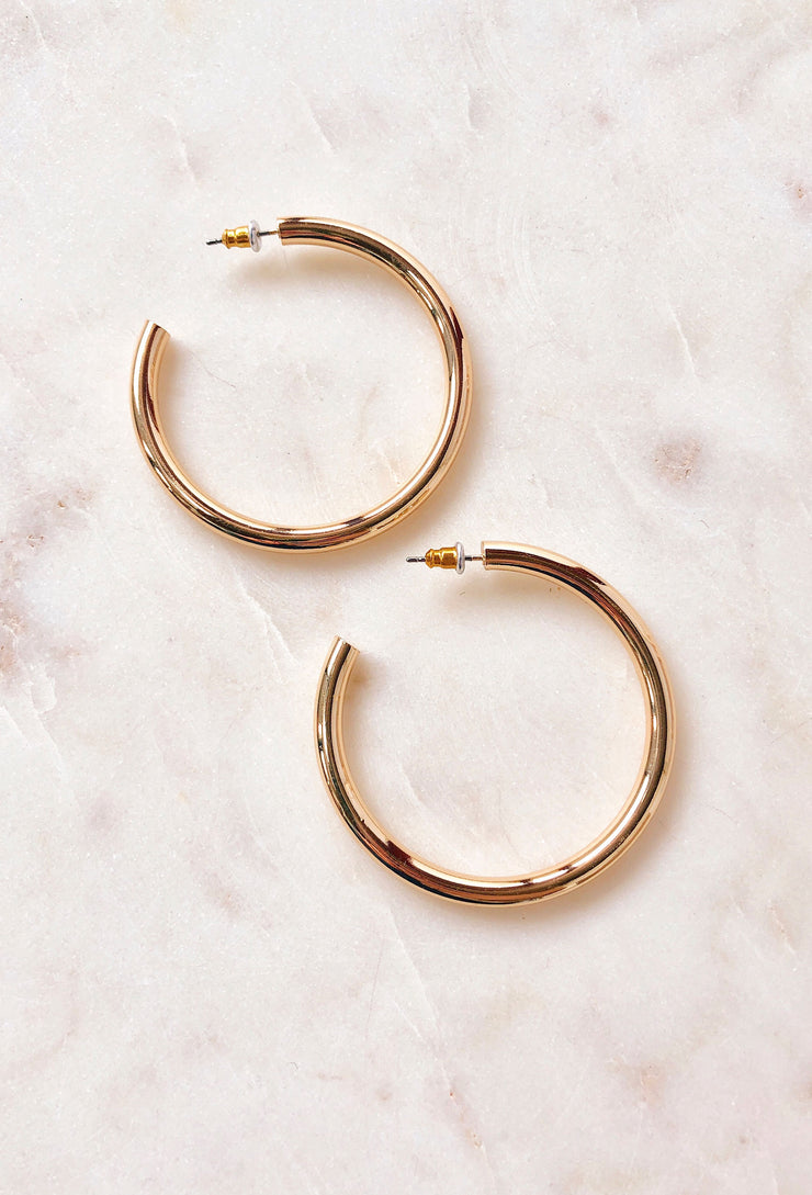 Rita Gold Hoop Earrings