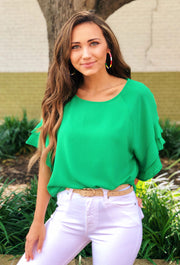 Shayleigh Shift Top in Green