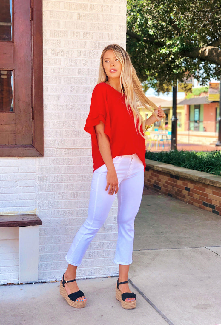 Shayleigh Shift Top in Red