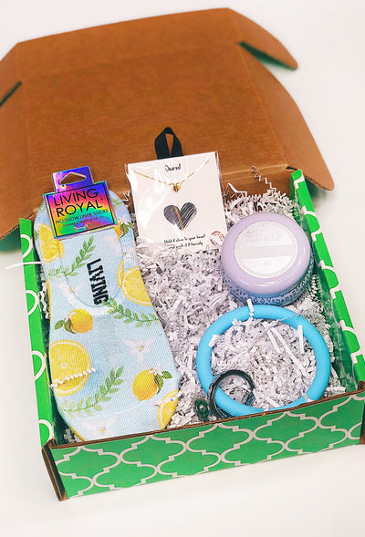 Sweet Groovy's Gift Box in Blue, curated gift box by Groovy's