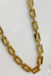 Bracha Tara Link Gold Choker, square gold link choker necklace