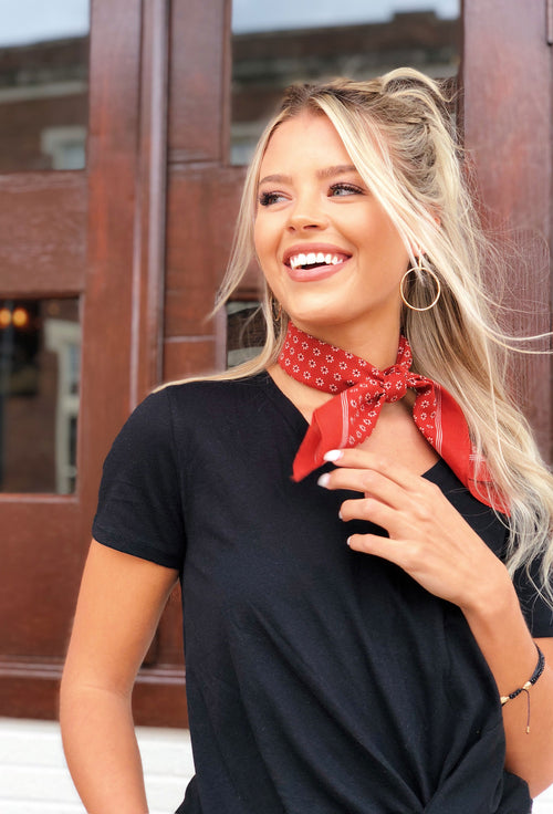Taylor Bandana Scarf in Red