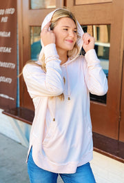 Z SUPPLY The Dakota Pullover is Rosewater, light pink z supply hoodie pullover