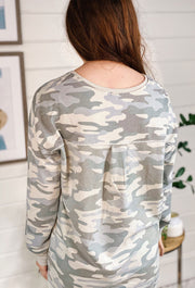 Z SUPPLY Camo Pocket Tee in Dusty Sage, light sage green Camo pullover