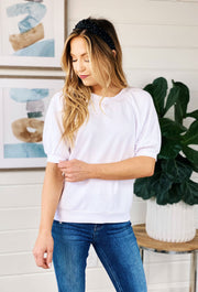 Z SUPPLY Gianna Terry Top, puff sleeve sweatshirt top
