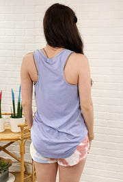 Z SUPPLY Pocket Racer Tank in Lavender Grey, lavender purple pocket tank