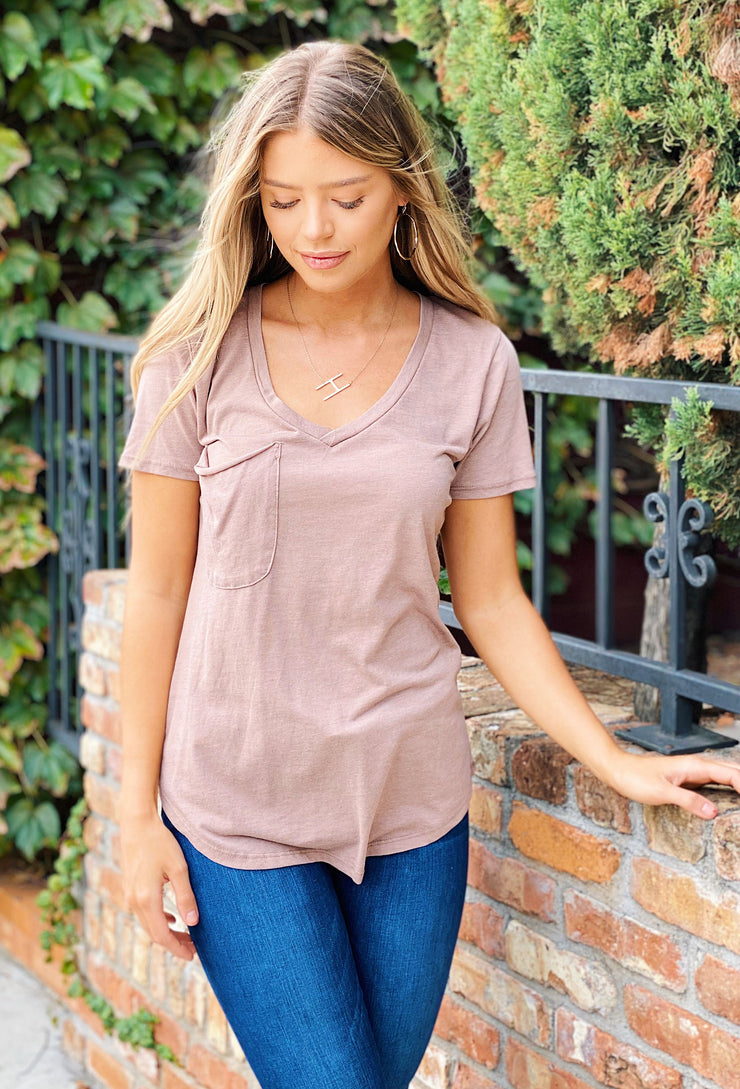 Z-Supply t-shirt, tee Z Supply Pocket Tee in Taupe Grey