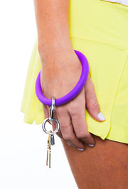 Oventure Silicone Key Ring, Purple Big O Key Chain, Silicone Keychain Deep Purple