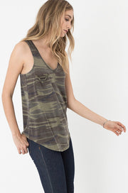 Z Supply Pocket Racer Tank In Camo Groovy S